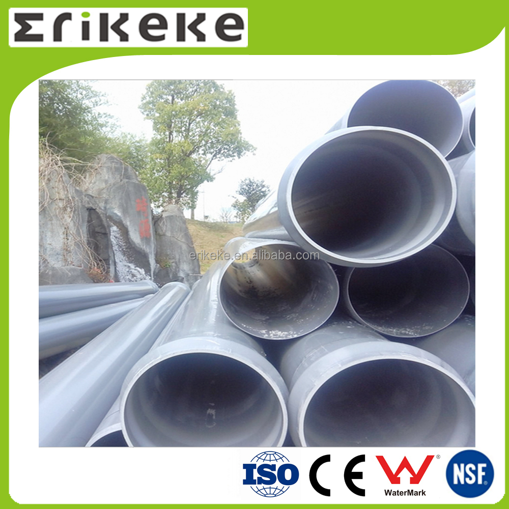 pvc material irrigation plastic pipe food grade