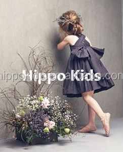 Beautiful girl fancy frocks girls dancing dress with a big bow one piece girls party dresses