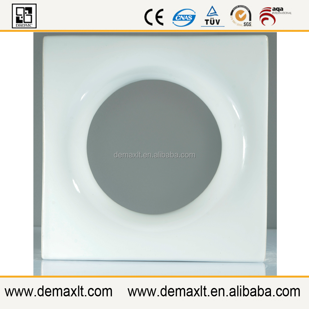 supplier choice Square shape 190x190x80mm superwhite moon 3d hollow ceramic block