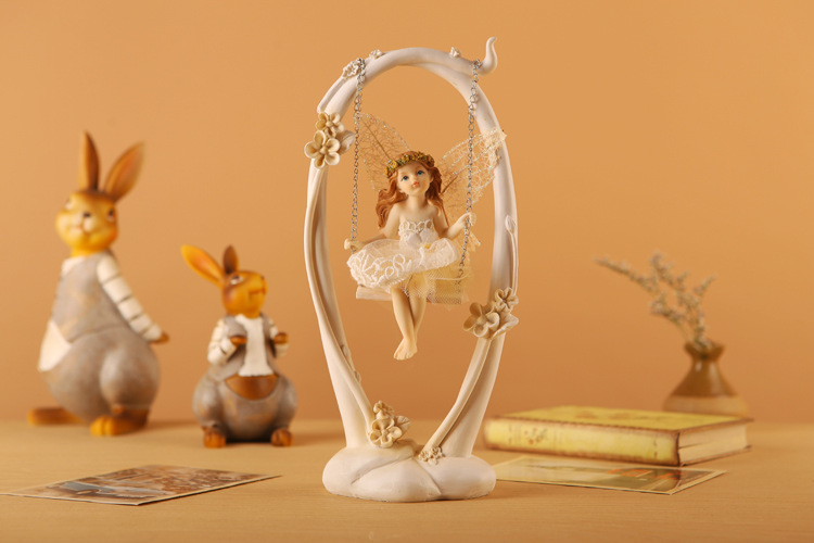 European sitting room adornment Resin beautiful fairy angel furnishing articles