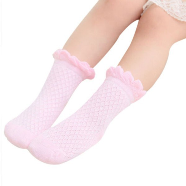 Hot Selling Cute Baby Toddler Kids Girls Boys Lace Mesh Thin Soft Cotton Ankle Socks Free Shipping