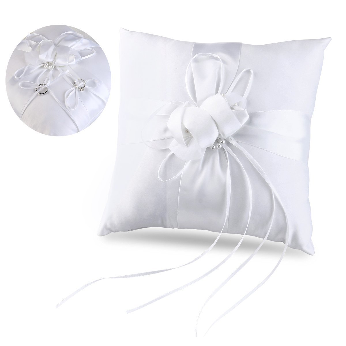 flower in item decorations bearer decor cushion wedding faux party pearls pocket buds bridal ceramony ring pillow lovely with diy ribbons