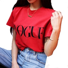Europe Style Vogue Letter Printed Loose Sleeve Summer Women t shirts in bulk