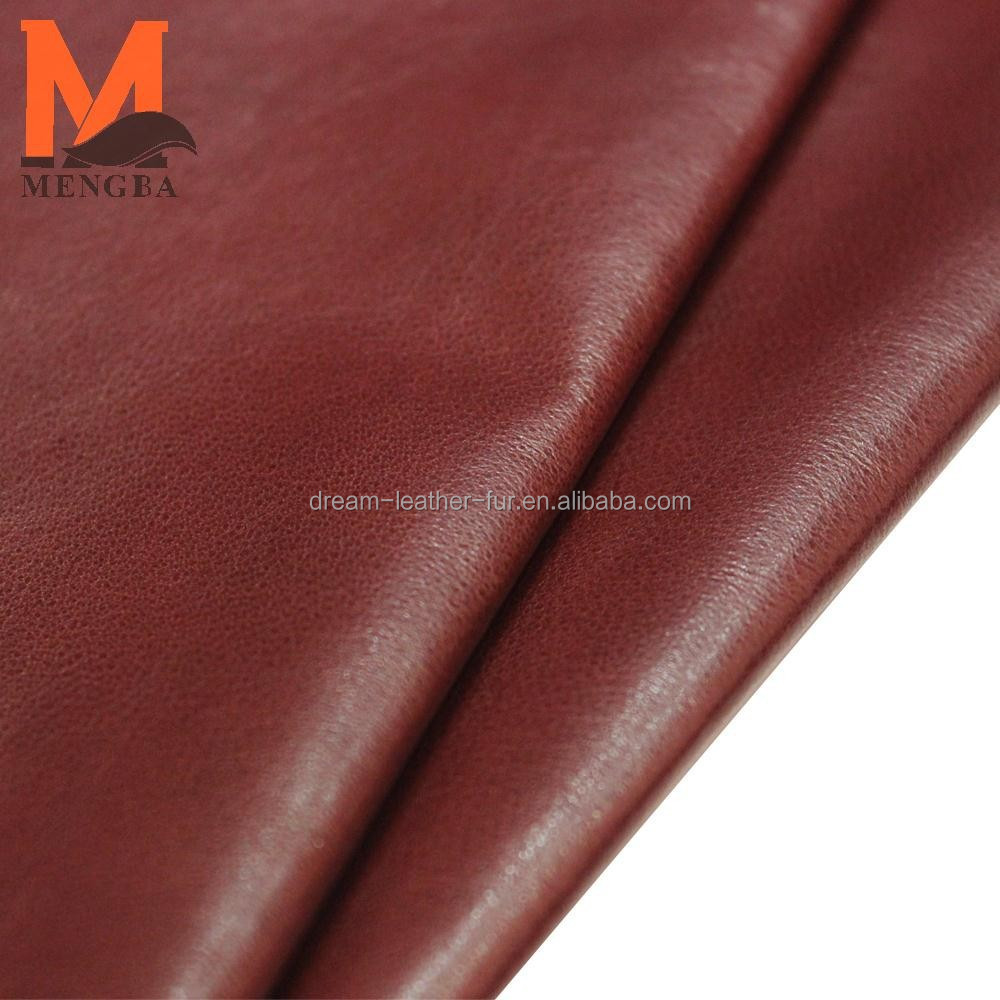 China high quality real sheep nappa leather in low price