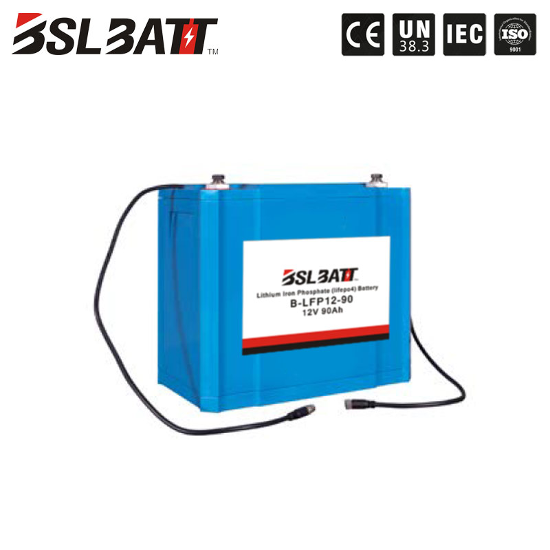 BMS management system lithium 12V 90ah lifepo4 battery for solar storage