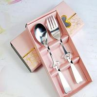 Most Sold Heart Shaped Spoon And Fork Set Wedding Favors Gifts For Guests