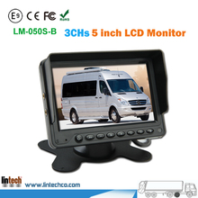 5 inches 3CHs Video Input High Brightness HD LCD Car Monitor 16:9
