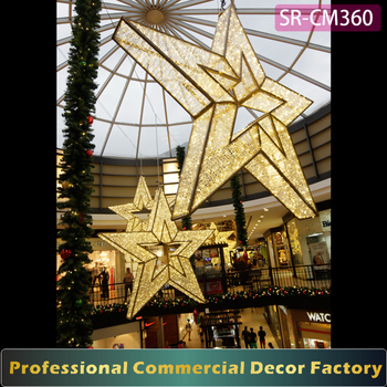 custom commercial hanging 1m 2m 3m 4m large outdoor led christmas star lights decoration - Large Outdoor Christmas Star