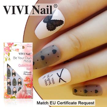 Newair Por Coffin Nails New Design Nail Art 24 Pcs Tips