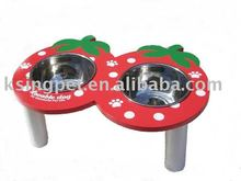 Strawberry Pet Bowl with stand