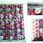 Light colour plant polyester shower curtain
