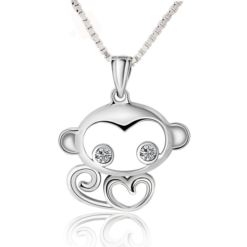 Fashion sterling silver 925 animal pendant with diamond