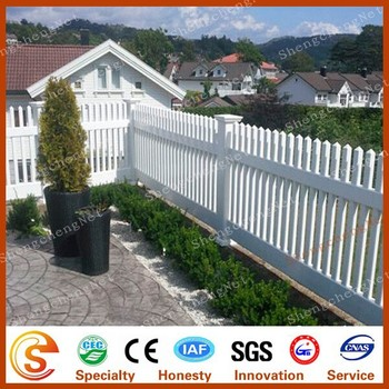 High Privacy White Plastic Picket Weave Fencing Cheap