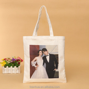 custom canvas bag cotton canvas tote accept digital printing your photo