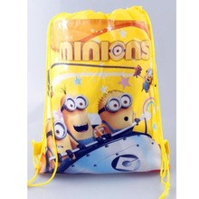 New Style Despicable Me&Minions Kids Cartoon Drawstring Bag Children Backpacks Cute School Bags Mochila Infantil For Gift&Bag