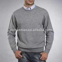 suitable round collar long sleeve customed color/size formal business man 100%cashmere sweater wholesale