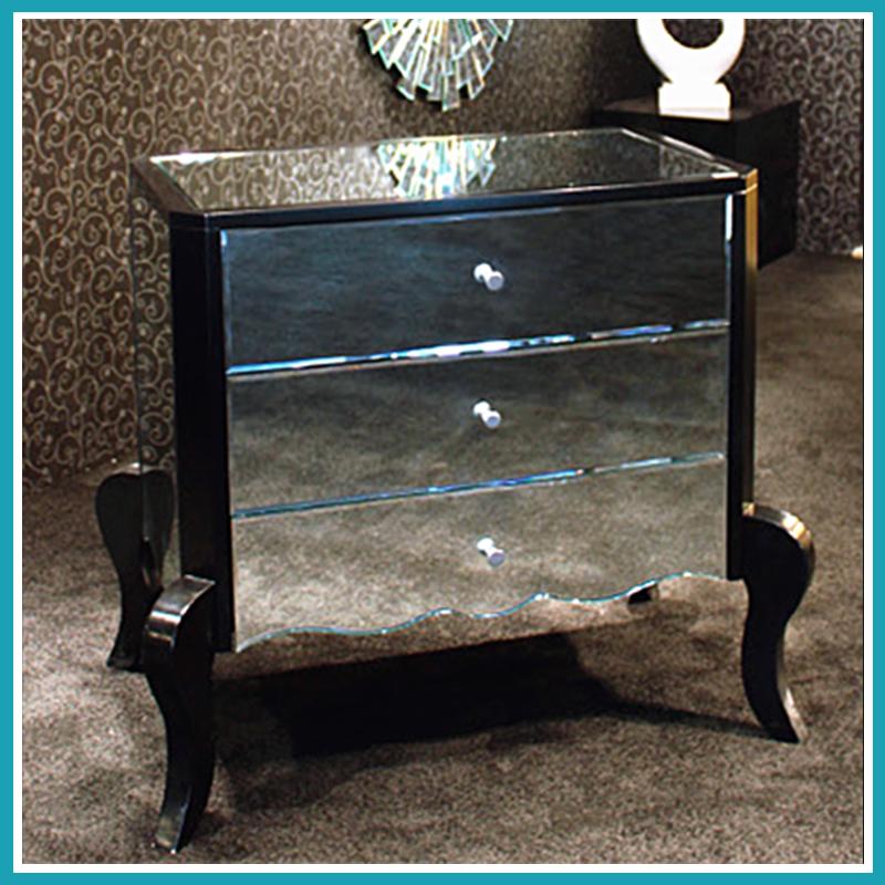 Blanco asequible veneciano espejo muebles de dormitorio mesitas de ...