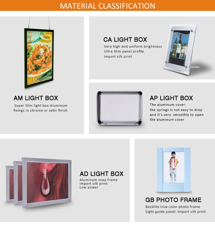 Select Material Is Excellent aluminum alloy picture frame led light box