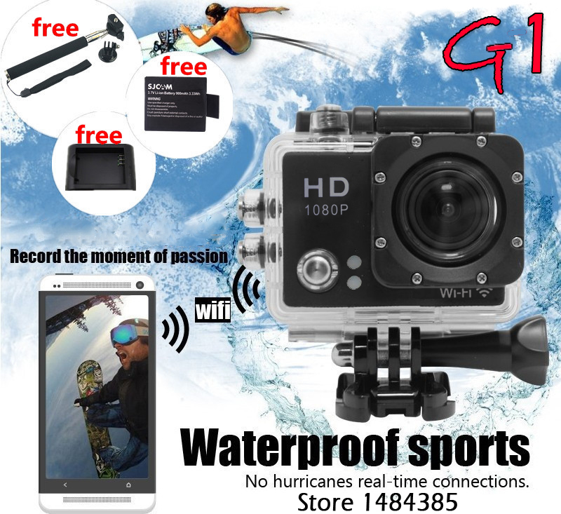 Gopro Hero 3 Style Eken G1 Wifi Action Camera 1080P Full HD Waterproof Car