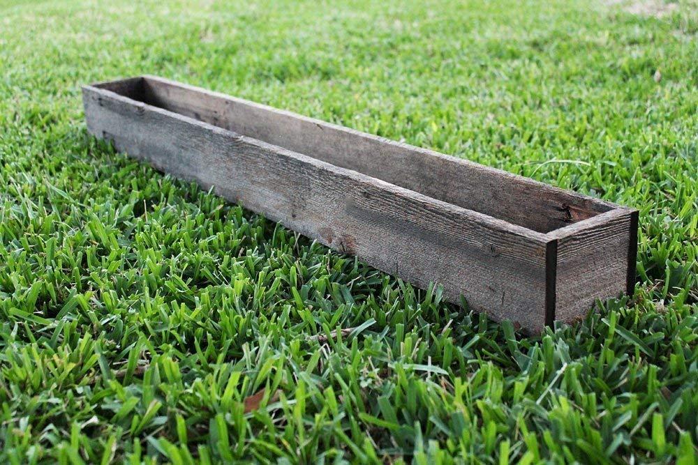 "40"" - 50"" Rustic Planters Box (3.25-3.75""T - Short Version)"