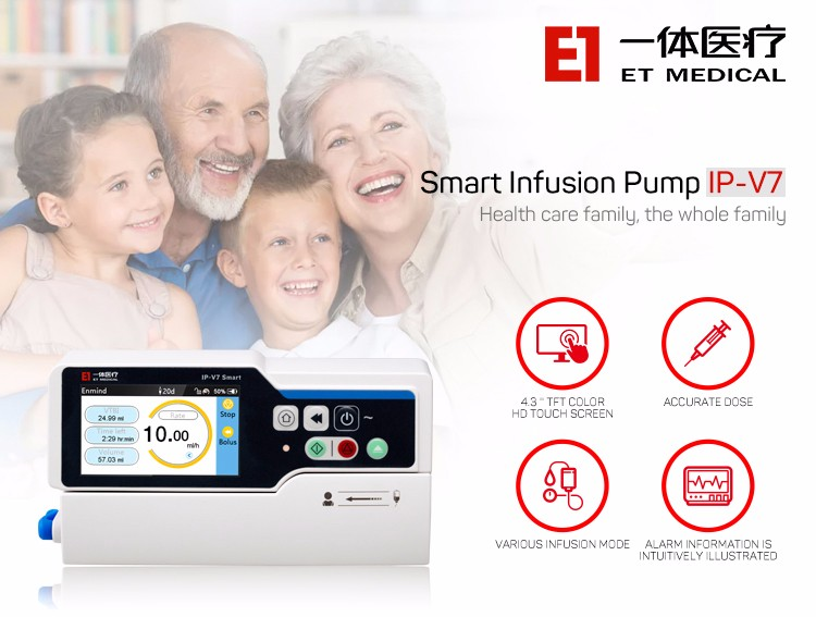 IP-V7 Smart Infusion Pump portable automatic High-end Infusion Pump