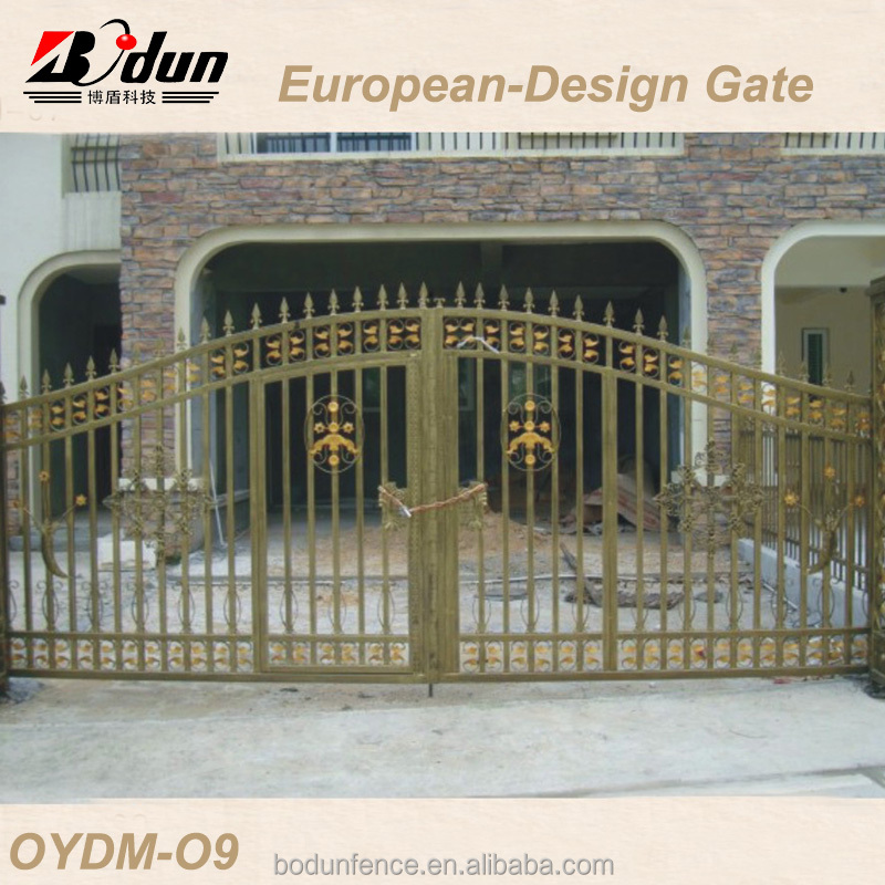 Safety steel gate modern galvanized steel gates design