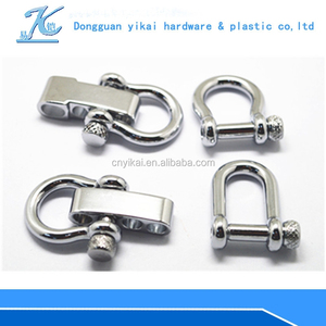 YIKAI new bolt and nut shackle/adjustable d ring shackle /galvanized d shackle