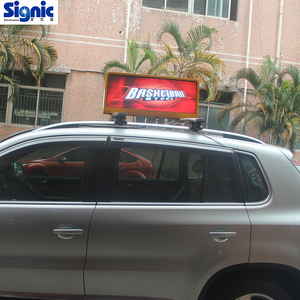 shenzhen factory Led light display taxi top advertising signs