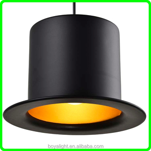 New Design Gentle Black Gold Jeeves Ceiling Light Hat Shade Pendant Lamp