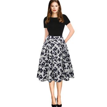 Vintage Printed Dress