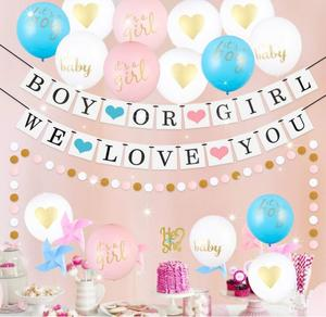 DMNP073 Hot Sale He Or She Reveal Party Accessories Kits Gender Reveal Party Decorations