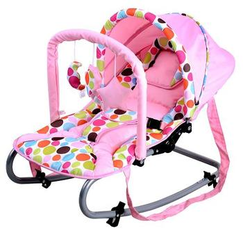 EN12790 Baby Rocking Chair With Canopy Bouncer Swing Adjustable Rocker