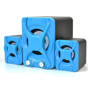 free sample heavy bass 3 inch 2.1 channel computer stereo speaker