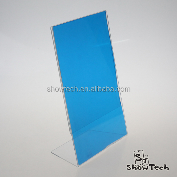 Acrylic L shape display stand tablet display stand picture display stand ST-LSHA4PV-09