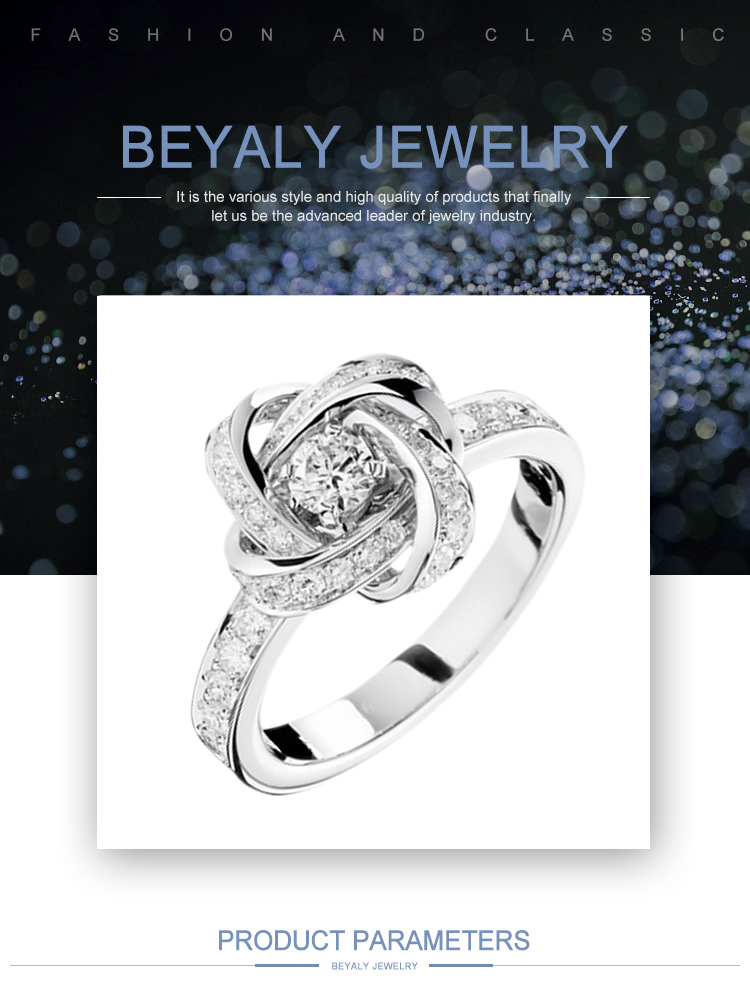 product-BEYALY-AAA CZ Knot Design Wedding Ring Pure Silver Jewelry Wholesale-img