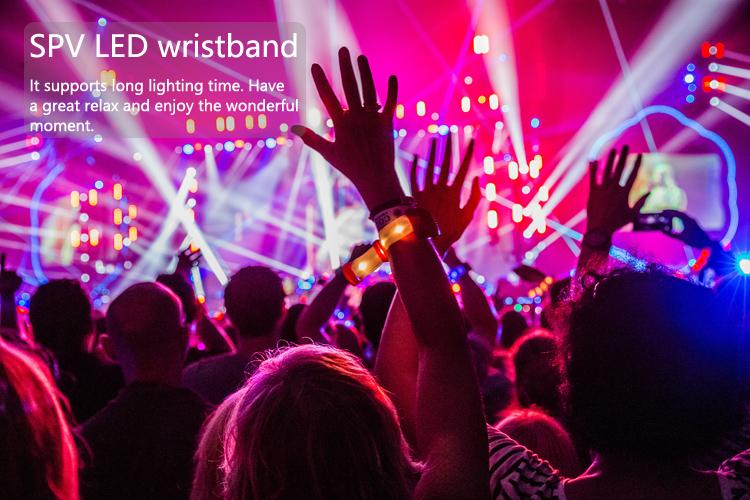 Nhấp nháy Led Dmx Ánh Sáng Dây Đeo Cổ Tay RFID Điều Khiển Từ Xa cho Các Sự Kiện Bên Buổi Hòa Nhạc