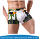 Wholesale Fast Delivery Army Green Custom Contrast Color Sporty Design Mens Underwear Boxer