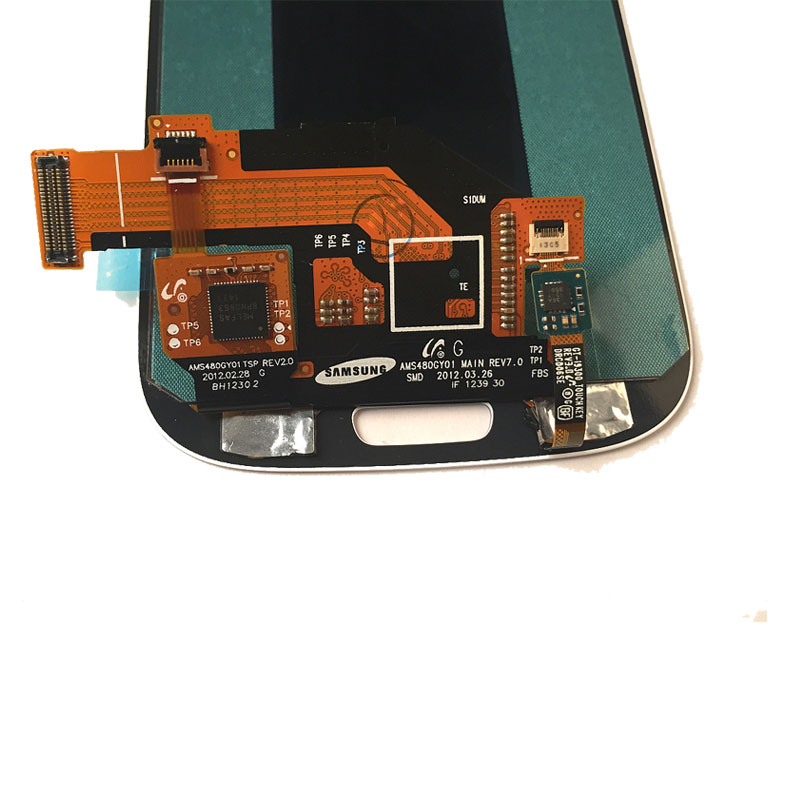 For Samsung Galaxy S3 i9300 Digitizer LCD With Touch Screen & Middle Frame Wholesale Lcd Replacement Part For Samsung S3