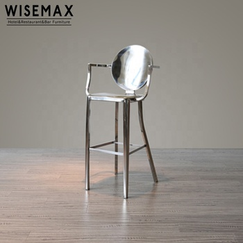 Incredible Wholesale Commercial Used Nightclub Furniture High Back Stainless Steel Bar Stool With Armrest High Chair Buy Metal Bar Stool Stainless Steel Bar Uwap Interior Chair Design Uwaporg