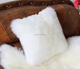 sheepskin pillow cushion