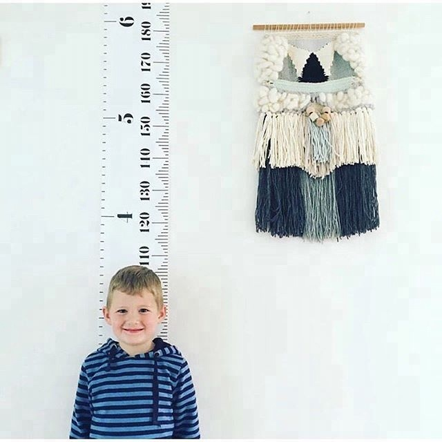Baby Height Growth Chart Hanging Rulers Kids Room Wall Wood Frame Home Decor US