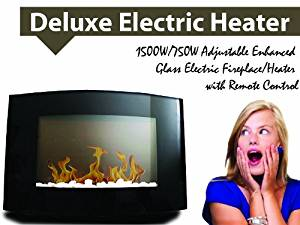 New 1500W Diva Tranquility Wall Mount Electric Fireplace Space Heater 1500 Watts