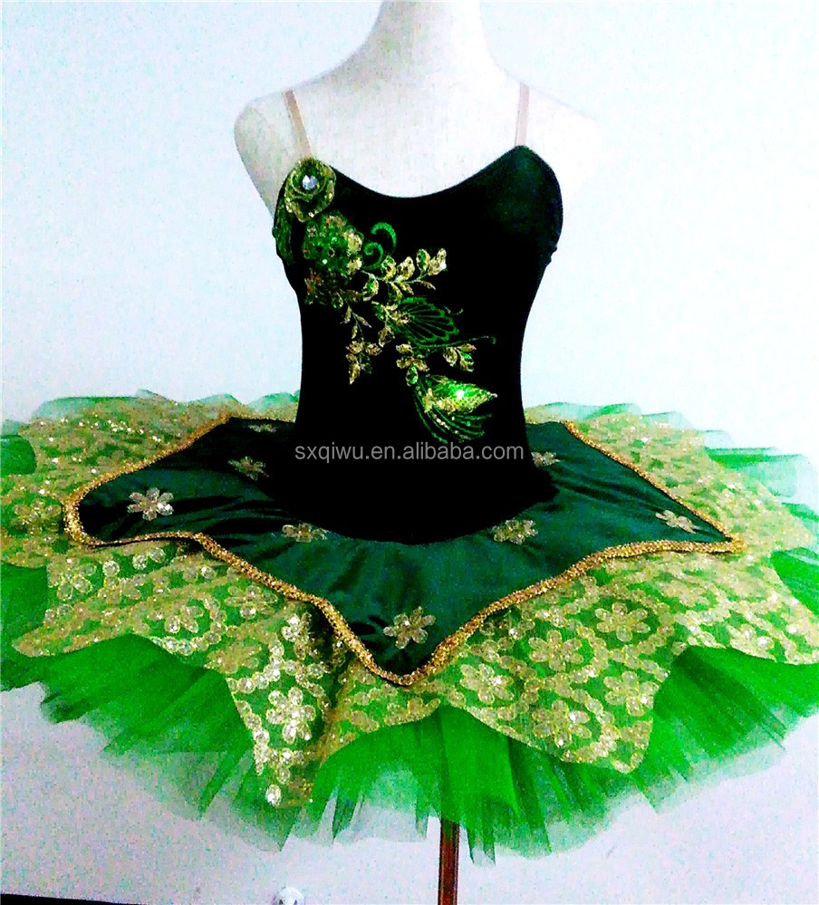 2017 New green adulto professionale tutu di balletto costumi di danza costume della ragazza di balletto tutu di balletto gonna danza classica Per Adulti-023