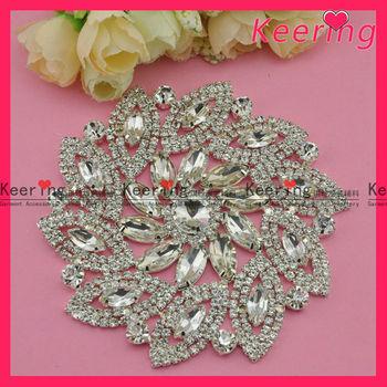 Rhinestone Buckle Embellishment For Wedding Dress Wre 086