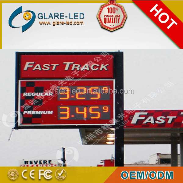Traffic led lamp Outdoor 48/60/72inch PCB Board LED Gas Price Sign