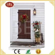 Light Up Winter Wreath Canvas Oil Painting Model