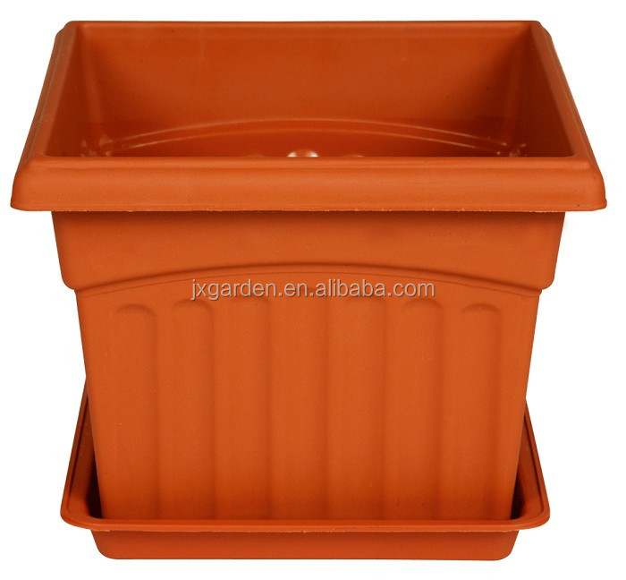 square bonsai terracotta cheap flower pots with saucer