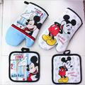 2016 2 Sets Free Shipping Exports High Quality 100 cotton Mickey Mouse Microwave Glove Bakeware Potholder