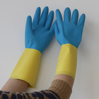 SRSAFETY two color long neoprene and latex dipping chemical industry glove