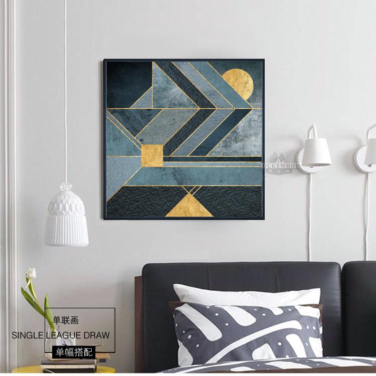 Abstraite G Om Trique Graphique Peinture Dessin De Base Mur D Cor Image Impressions Sur Toile
